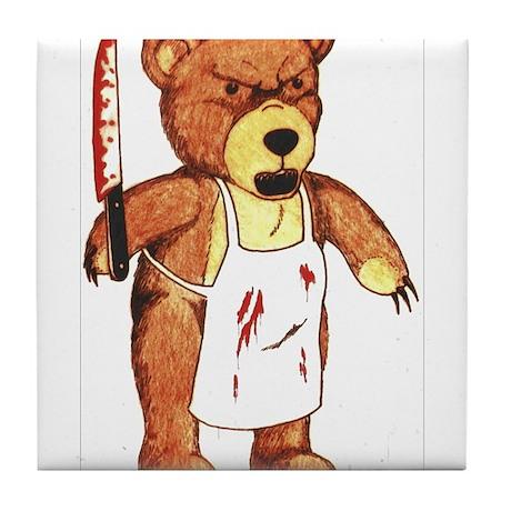 Butcher Bear Tile Coaster
