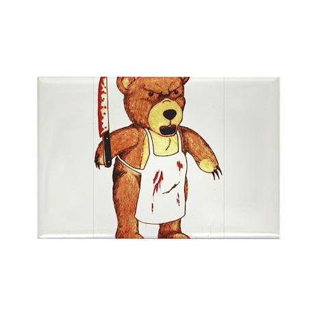 Butcher Bear Rectangle Magnet