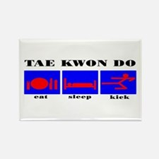 TKD Eat Sleep Kick Rectangle Magnet