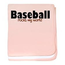 'Baseball' baby blanket