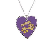 purple gold senior 2013 paws Necklace