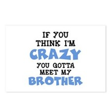 Crazy Brother Postcards (Package of 8)