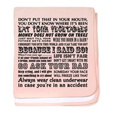 Funny Mother's Day baby blanket