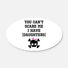 Funny Girl's Parent Oval Car Magnet