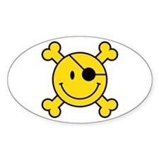 Pirate Smiley Decal