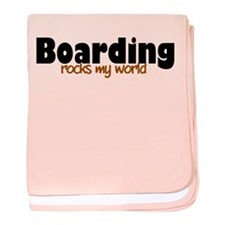 'Boarding' baby blanket