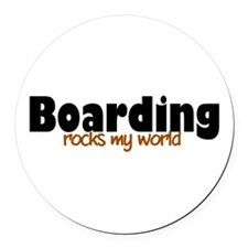 'Boarding' Round Car Magnet
