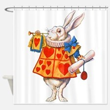 ALICE - THE WHITE RABBIT Shower Curtain