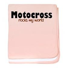 'Motocross' baby blanket