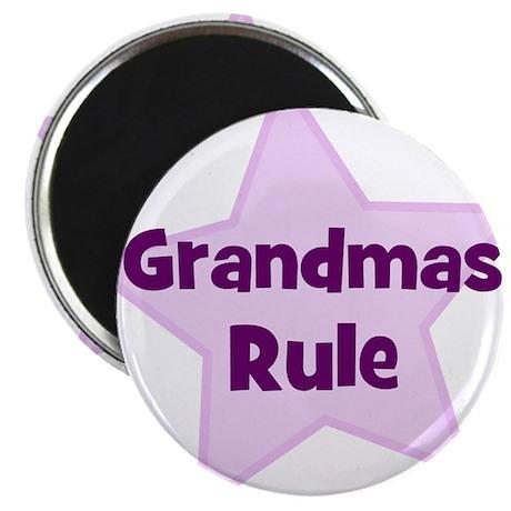 Grandmas Rule Magnet