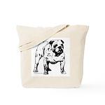 Black & White Bulldog Tote Bag