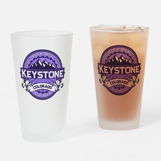Keystone Purple Drinking Glass