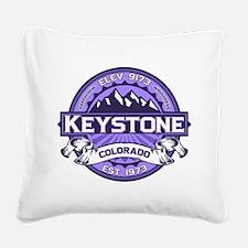 Keystone Purple Square Canvas Pillow