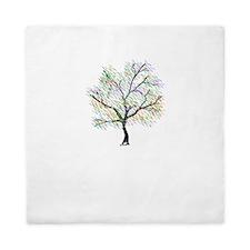 Rainbow Tree Queen Duvet