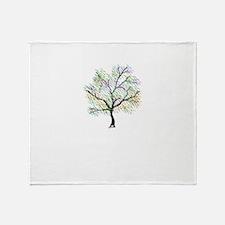 Rainbow Tree Throw Blanket