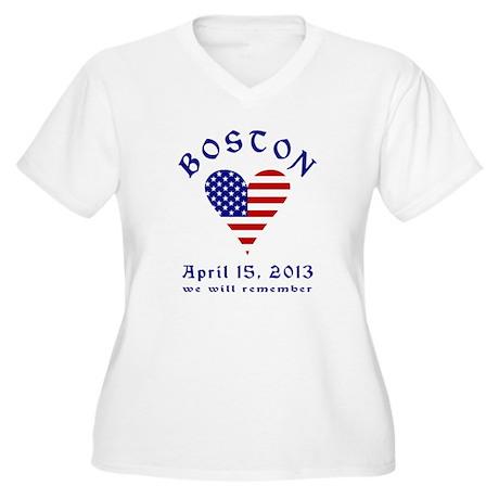 Boston Remembrance Plus Size T-Shirt