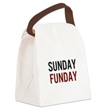 Sunday Funday Black/Red Canvas Lunch Bag