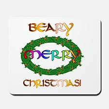 BEARY MERRY CHRISTMAS Mousepad