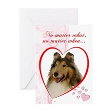 Collie St. Valentine's Day Card
