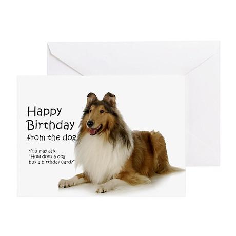 Collie Birthday Card