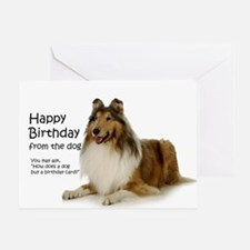 Collie Birthday Card