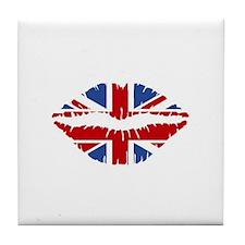 Union Jack Kiss Tile Coaster