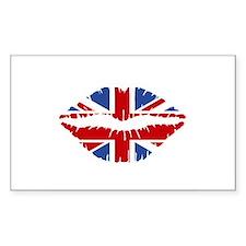 Union Jack Kiss Decal