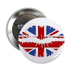 """Union Jack Kiss 2.25"""" Button"""