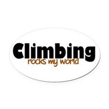 'Climbing' Oval Car Magnet