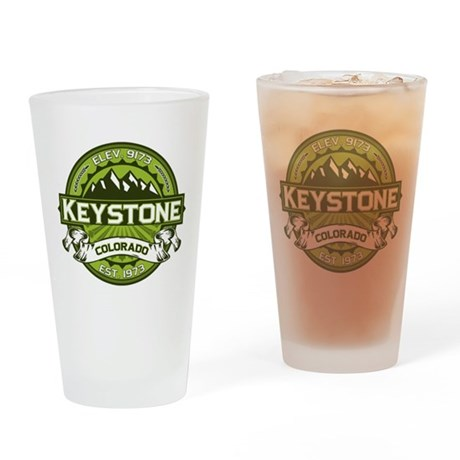 Keystone Green Drinking Glass