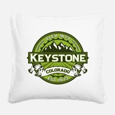 Keystone Green Square Canvas Pillow