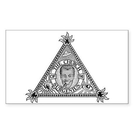 Sacred Church Logo Rectangle Sticker