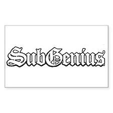 SubGenius Logo Rectangle Stickers