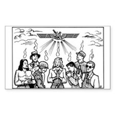 SubGenius Worship Rectangle Stickers