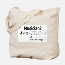 Musician Massage Tote Bag