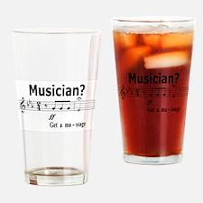 Musician Massage Drinking Glass