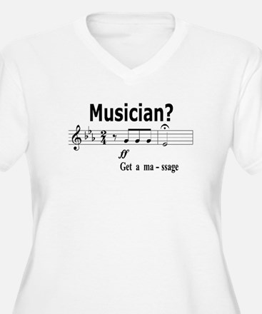 Musician Massage Plus Size T-Shirt