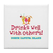 North Captiva-Drinks Well Tile Coaster