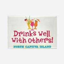 North Captiva-Drinks Well Rectangle Magnet