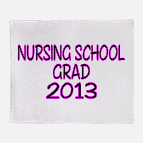 2013 NURSING SCHOOL copy Throw Blanket
