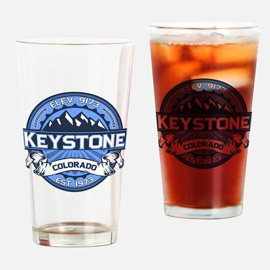 Keystone Blue Drinking Glass