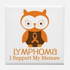 Memaw Lymphoma Support Tile Coaster