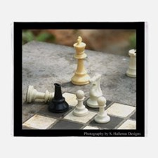 Game - Chess Pieces - Digital Photography Throw Bl