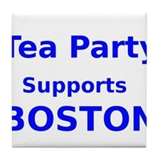 Tea Party Supports Boston Tile Coaster