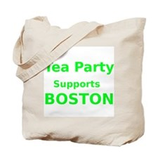 Tea Party Supports Boston Tote Bag