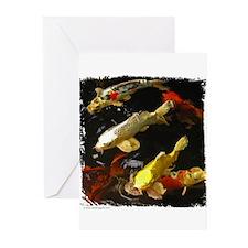 Koi Group Greeting Cards (Pk of 10)