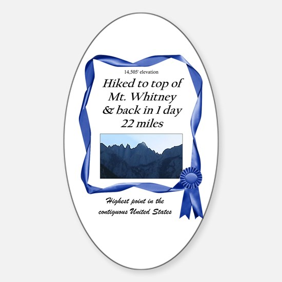 Mt. Whitney Oval Decal