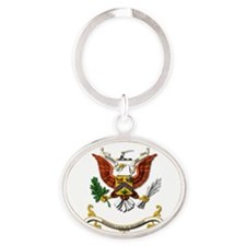 7th Cavalry Regiment Oval Keychain