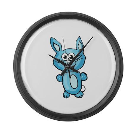 Cute Blue Bunny Large Wall Clock
