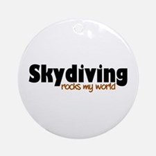 'Skydiving' Ornament (Round)